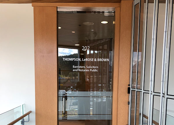 Thompson, LeRose & Brown Law Firm in Trail & Castlegar